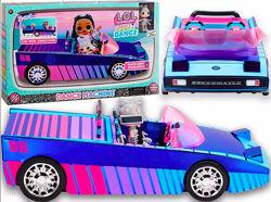 Машина ЛОЛ кабриолет с куклой LOL Surprise Dance Machine Car Автомобиль лол