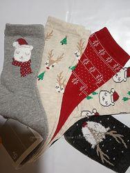 Комплекты ярких новогодних носков C&A Германия
