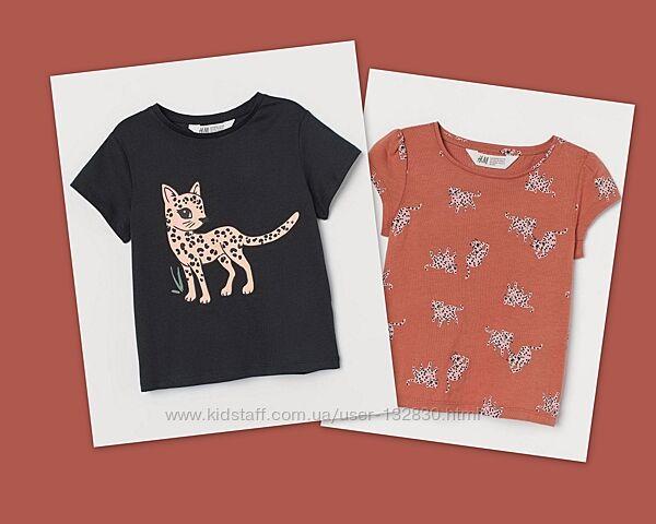 Стильные футболочки H&M леопардики