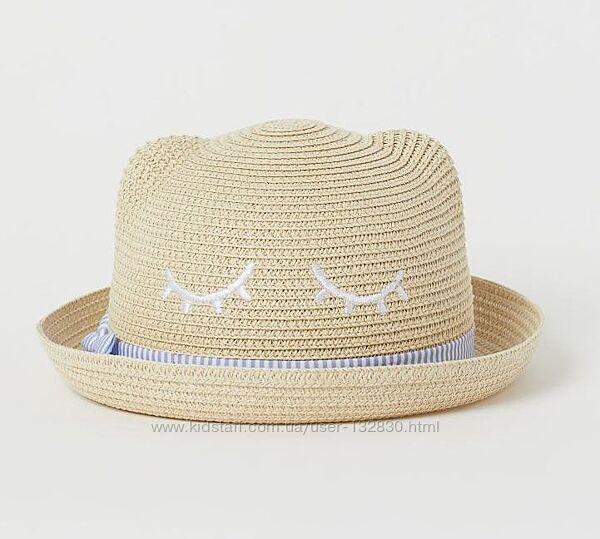 Стильная соломенная шляпка H&M с ушками