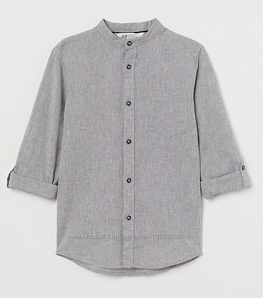Стильная рубашка H&M без воротника