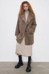 Стильное пальто Zara оверсайз