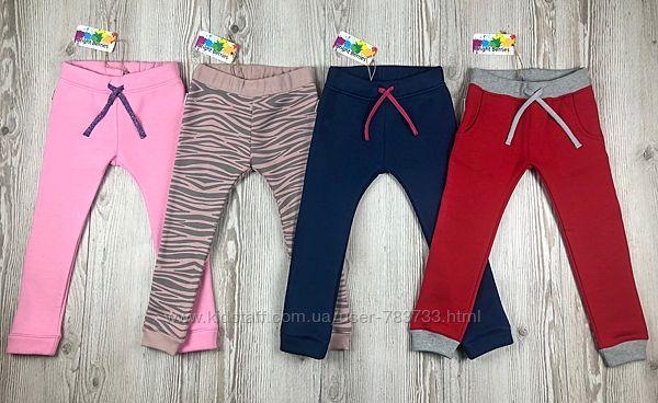 Теплые фирменные штаны для девочек от Bright Berries