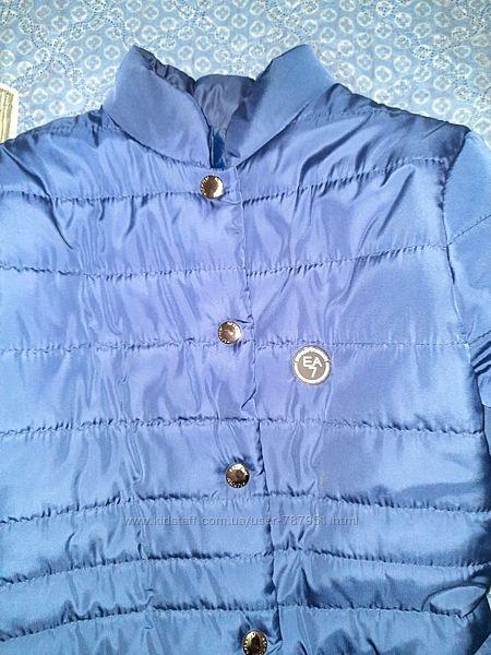 Удлиненная куртка, весна-осень, состояние новой