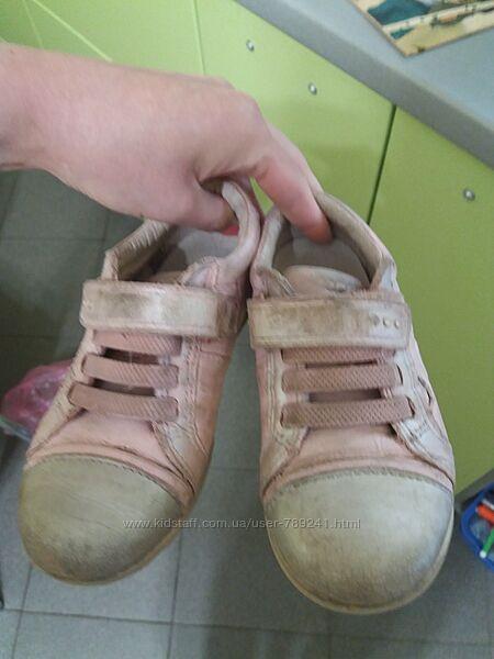 Осенние ботиночки мокасины ecco 25  р. Кожа
