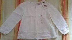 Новая нарядная белая блузка LC Waikiki на девочку 6 лет