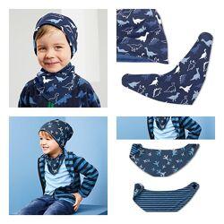 Двухсторонний шарф бандана снуд слюнявчик на липучке от 1 до 8 лет Tchibo