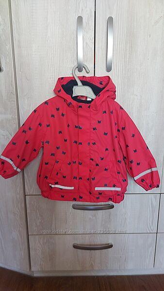 Куртка дождевик демисезонная на флисе 74 80 86 X-Mail Германия