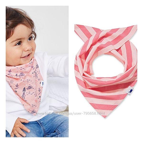 Слюнявчик шарфик платок бандана косынка хлопок от 0 до 5 Tchibo Германия