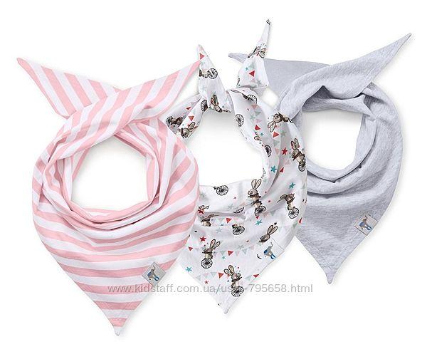 Слюнявчик шарфик платок бандана хлопок от 0 до 5 лет Tchibo Германия