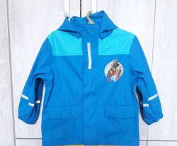 Куртка дождевик 92 98 104 Lupilu прорезиненная ветровка