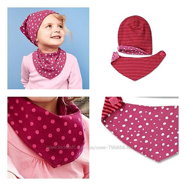 Двухсторонний шарф бандана шарфик 4 в 1 Tchibo 0-8 лет трикотажный снуд