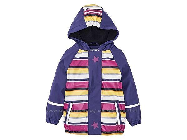 Куртка дождевик непромокайка грязепруф 80 86 92 116 122 128 Lupilu на флисе