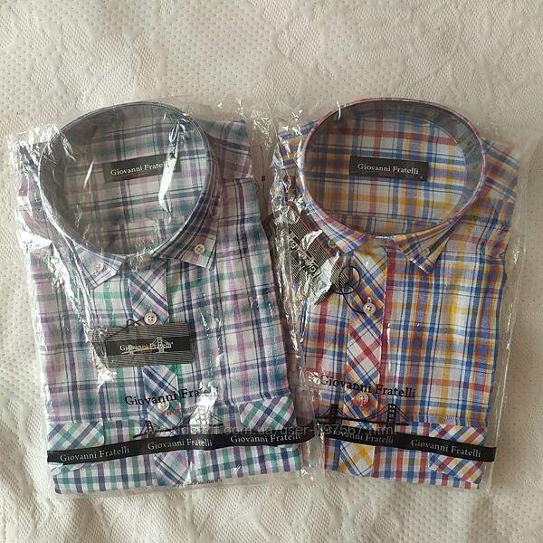 Рубашка slim fit Giovanni Frattelli  короткий рукав S