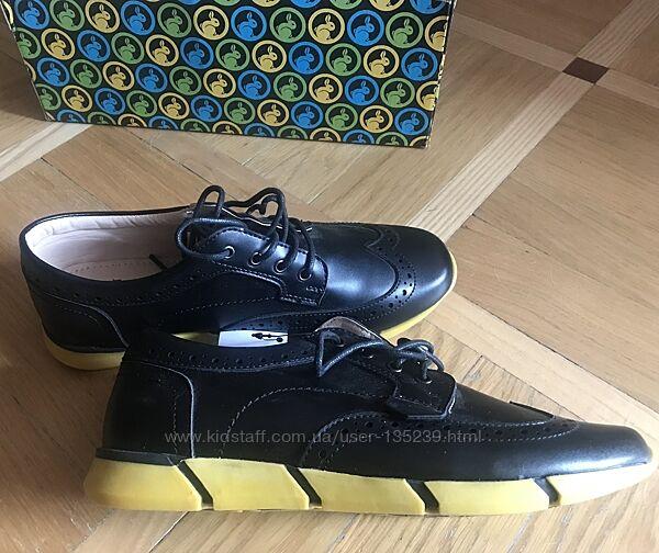 Стильные Туфли кеды мокасины кожа школа супинатор B&G Новые 37 размер