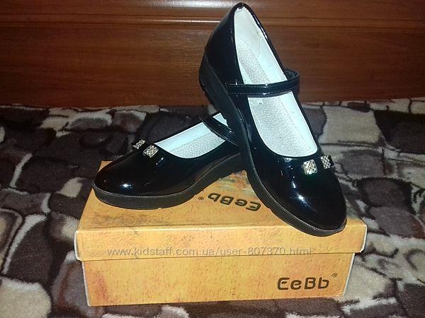 Черные лаковые туфли р.36