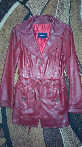 Кожаная куртка р.44