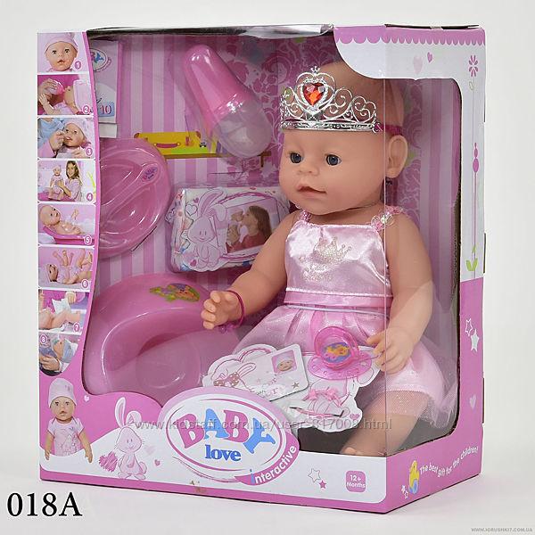Пупс Беби Лав Baby Love кукла интерактивная пупсик