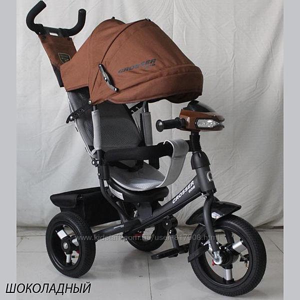 Кросер Ван надувные колеса детский трехколесный велосипед Crosser One