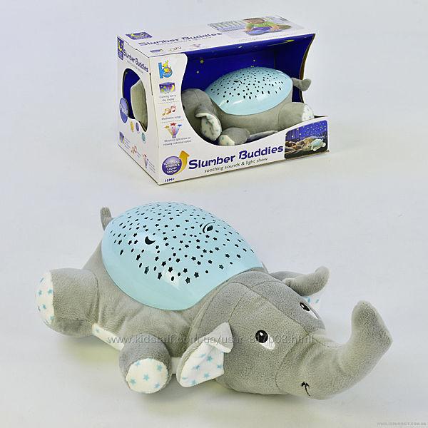 Ночник с проектором JLD 333 звездное небо музыкальный черепаха слоник