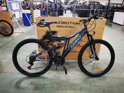 Азимут Блекмаунт 24 GFRD Шимано велосипед горный Azimut Blackmount