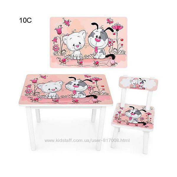 Столик и стульчик детский для дошкольников BSM2K
