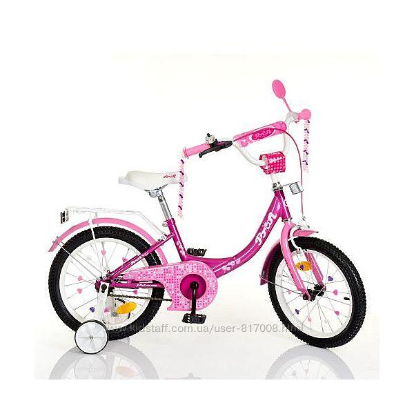 Profi Princess New 12 16 18 дюймов велосипед двухколесный для девочки