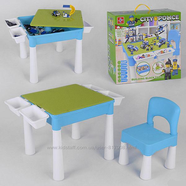 City Police 371 игровой столик и стульчик с конструктором