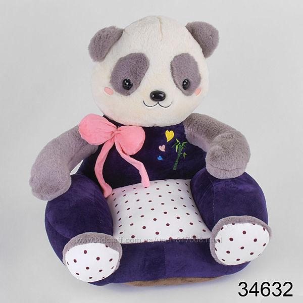 Мягкое кресло 346 детская игрушка стульчик кошка панда зайка