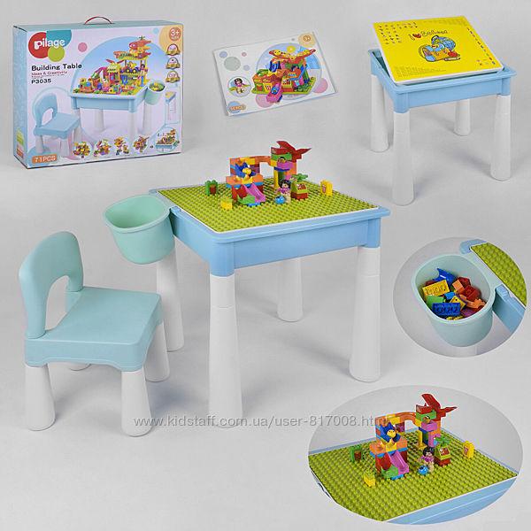 Набор 3035 игровой столик и стульчик с конструктором