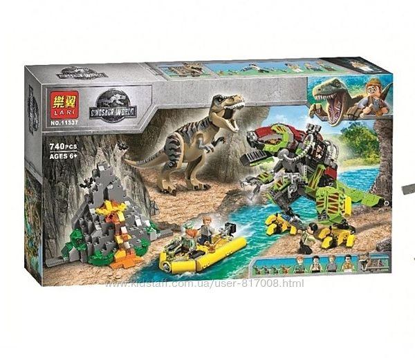 Бела 11337 конструктор бой Тиранозавра Bela с динозаврами