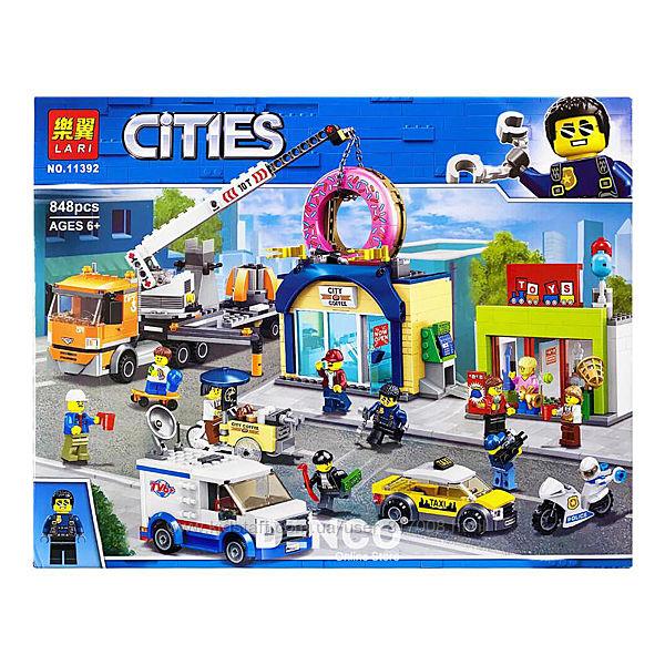 Конструктор 11392 Cities магазин пончиков Бела Сити  лего совместимый