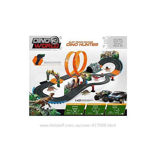 Автотрек JJ 149-2 гоночный с петлей машинками динозаврами