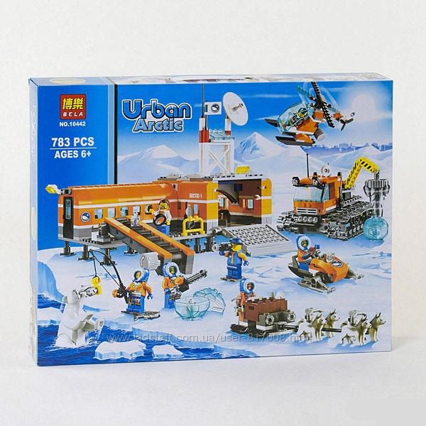 Bela 10442 конструктор Арктика лагерь большой набор Бела лего аналог