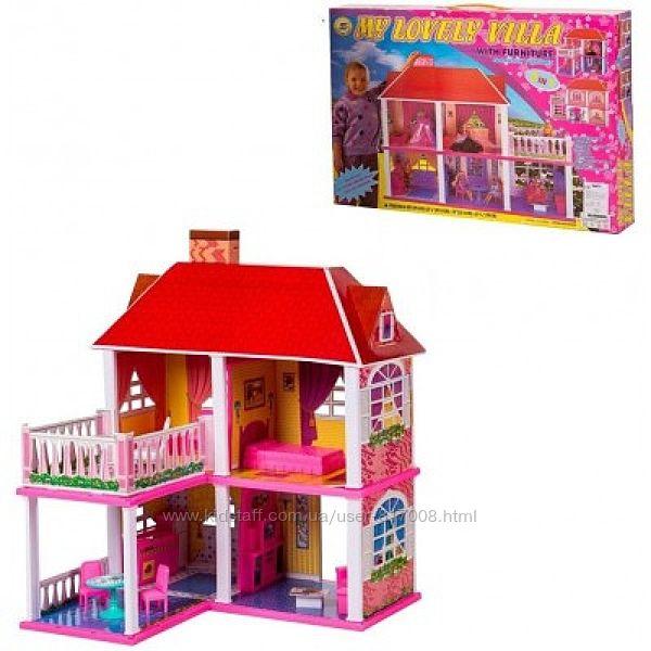 Домик 6980 для кукол двухэтажный 2 в 1 игрушка