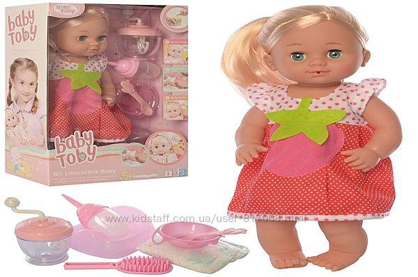 Пупс Baby Toby кукла с длинными волосами интерактивная