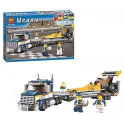 Bela Urban 10650 конструктор Грузовик для перевозки драгстера лего аналог