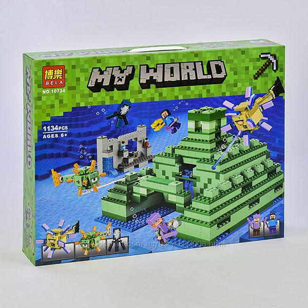 Bela Minecraft my world 10734 конструктор Подводная крепость большой
