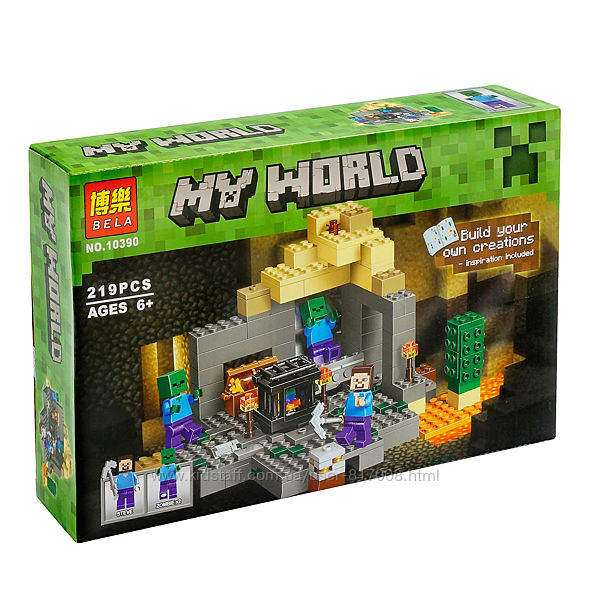 Bela Minecraft 10390 my world конструктор Подземелье лего совместимый