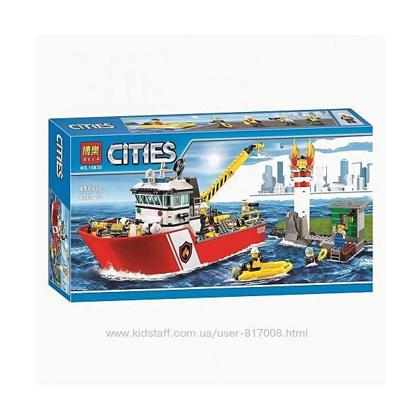 Bela City 10830 конструктор Пожарный катер для мальчиков лего совместимый