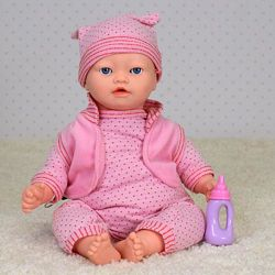 Пупс малятко 3881 сенсорный кукла интерактивный с мимикой закрывает глаза