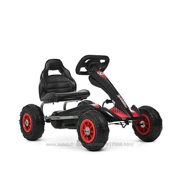 Карт Бемби 4036 педальная машина детская с резиновыми колесами