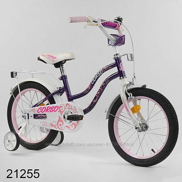 Корсо Т велосипед 16 дюймов для девочки двухколесный