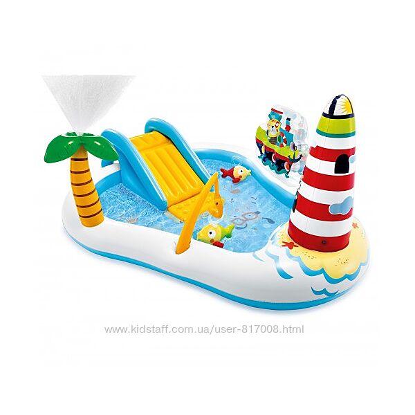 Игровой центр надувной детский Интекс 57162 Веселая рыбалка 218х188 см
