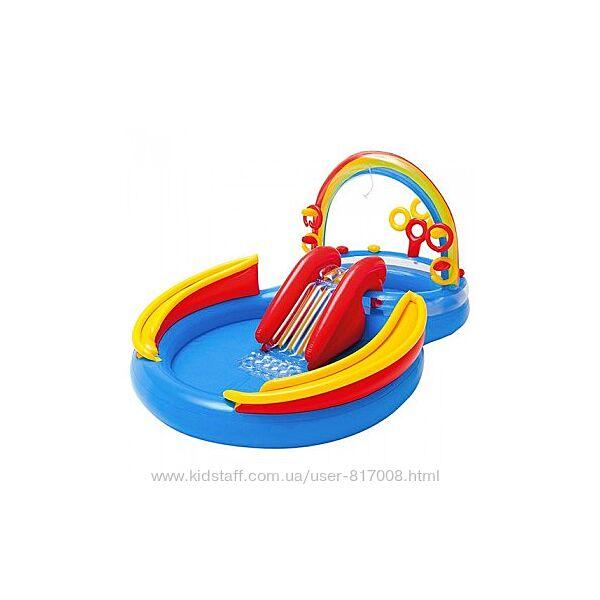 Игровой центр надувной детский Intex 57453 Радуга 297х193х135см