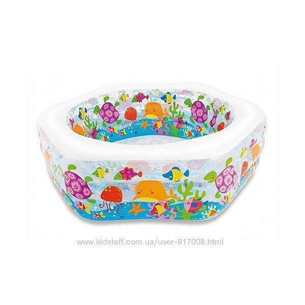 Бассейн надувной детский Intex 56493 Океанский Риф 191х178 см