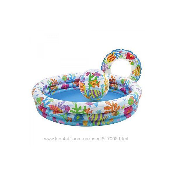 Бассейн надувной детский Интекс 59469 132 см Х 28 см