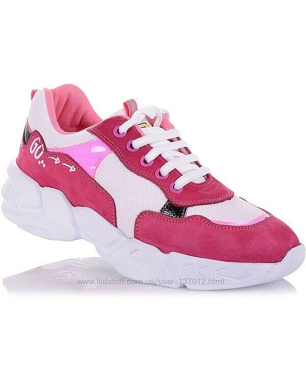 Яркие кроссовки на белой подошве для девочек 37-40 р-р 5.2.61