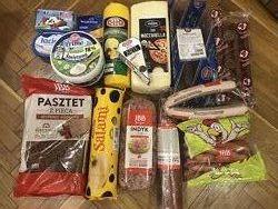 Сир, ковбаса, сосиски, паштет, Польща