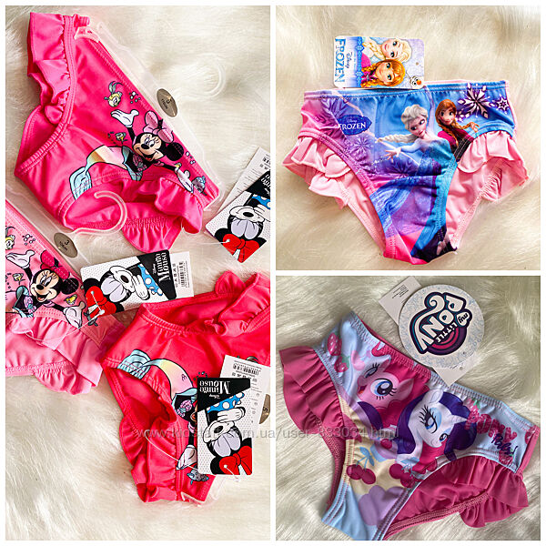 Плавки Disney для девочек р.92-128